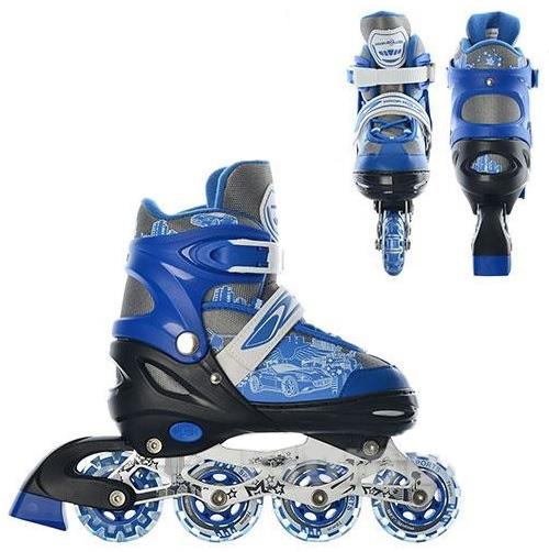 Фото 1 к товару Коньки роликовые детские раздвижные Profi 5033 синие