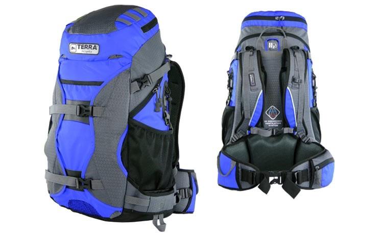 Рюкзак туристический Terra Incognita Nevado 50 синий/серый - фото 1
