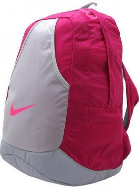 Рюкзак городской женский Nike Varsity Girl Backpack малиновый/серый
