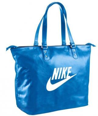 Сумка спортивная женская Nike Heritage SI Tote голубая