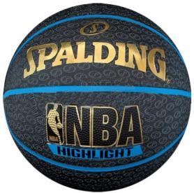 Мяч баскетбольный резиновый Spalding Highlight Blue Outdoor 73902Z №7