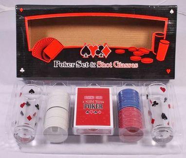 Набор для игры в пьяный покер Duke 100 фишек 2 рюмки