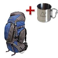 Рюкзак туристический Terra Incognita Discover 70 сине-серый + подарок