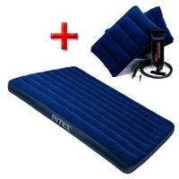 Матрас надувной двуспальный Intex 68765 (203х152х22 см) + подарок