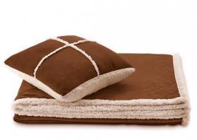 Набор одеяло + подушка Dormeo Теплые объятия коричневый