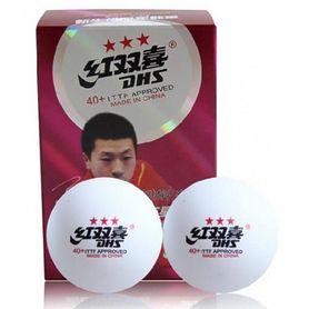 Фото 2 к товару Набор мячей для настольного тенниса DHS 3* 40+ (6 шт.)