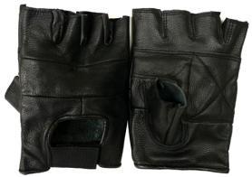 Перчатки для фитнеса молодежные (кожа) - M