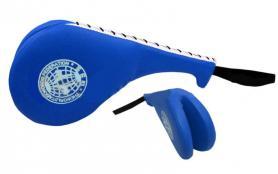 Ракетка (хлопушка) для тхэквондо двойная ZLT синяя (1 шт)