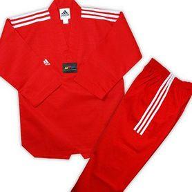 Фото 2 к товару Кимоно для тхэквондо Adidas Champion Uniform красное (добок)