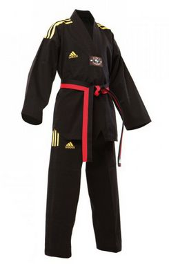 Кимоно для тхэквондо Adidas Champion Uniform черное (добок)