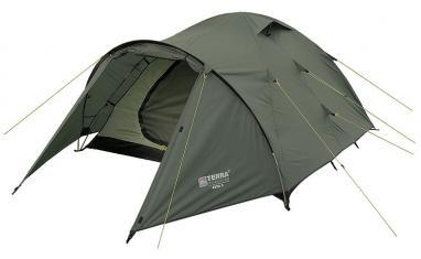 Палатка трехместная Terra Incognita Zeta 3 зеленая