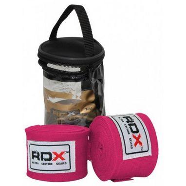 Бинт боксерский RDX Fibra Pink (4,5 м, 2 шт)