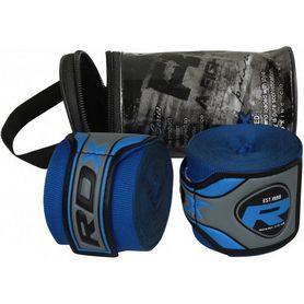 Бинт боксерский RDX Fibra Blue (4,5 м, 2 шт)