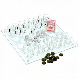 Фото 1 к товару Набор из 3 игр: шахматы, шашки, карты Duke
