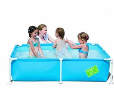 Бассейн детский каркасный 56217 Bestway (122х122х30,5 см) голубой