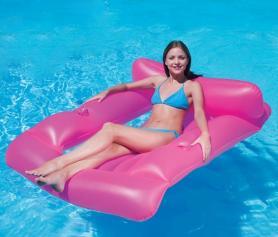 Фото 1 к товару Матрас-кресло надувной пляжный Bestway 43039 (183х110 см) розовый
