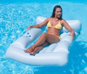 Матрас-кресло надувной пляжный Bestway 43039 (183х110 см) белый