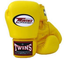 Фото 2 к товару Перчатки боксерские Twins BGVL-3 желтые