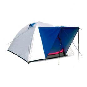 Палатка трехместная Mountain Outdoor (ZLT) 200х200х135 см двухслойная серебристая с синим