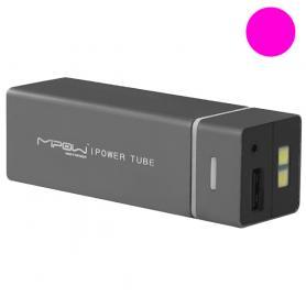 Устройство зарядное MiPow Power Tube 5500 розовое