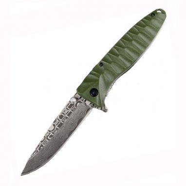 Нож складной Ganzo G620g зеленый с травлением