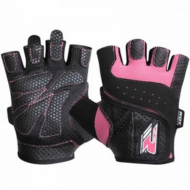 Перчатки для фитнеса женские RDX Ladies Lifting Gloves Pink