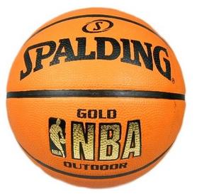 Мяч баскетбольный резиновый Spalding NBA Gold Outdoor 73299Z