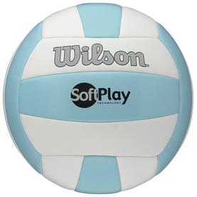 Фото 1 к товару Мяч волейбольный Wilson Soft Play Volleyball Blue/White SS15