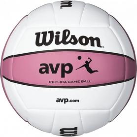 Мяч волейбольный Wilson AVP Replica Pink-Delf SS15