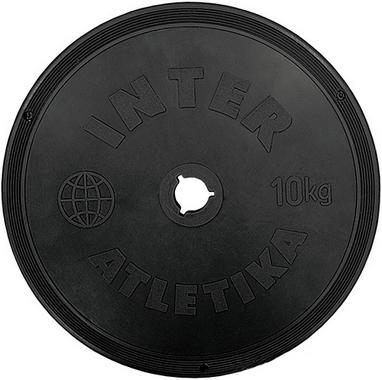 Диск пластиковый 10 кг Inter Atletika - 26 мм