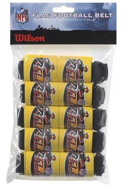 Распродажа*! Пояс НФЛ для флаг-футбола Wilson 5 Flag Football Belts W/FLAG SS14
