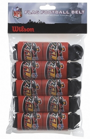 Пояс НФЛ для флаг-футбола Wilson 5 Flag Football Belts WIT SS14