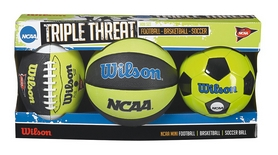 Набор из 3-х мини-мячей Wilson NCAA Triple Threat Kit SS14 №1