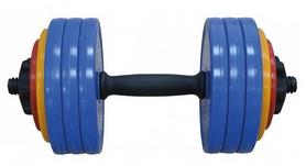 Гантель наборная Inter Atletika 18,82 кг цветная