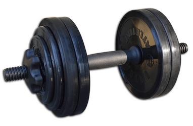 Гантель наборная Inter Atletika 13,82 кг черная