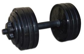 Гантель наборная Inter Atletika 18,82 кг черная