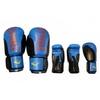 Перчатки боксерские Everlast BO-6161-B кожаные синие с черным - фото 1