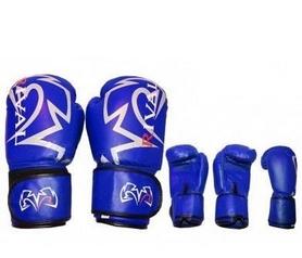 Перчатки боксерские Rival MA-3307-B кожаные синие
