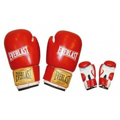 Перчатки боксерские Everlast VL-0107-R кожаные красные