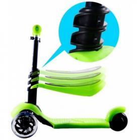 Фото 2 к товару Самокат трехколесный с наклоном руля и сидением 21st Scooter G-80 зеленый