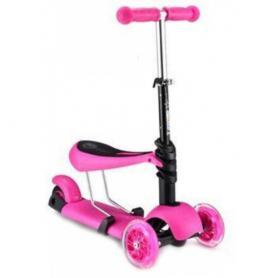 Фото 1 к товару Самокат трехколесный с наклоном руля и сидением 21st Scooter G-80 розовый