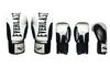 Перчатки боксерские Everlast BO-6161-BK кожаные черные с белым - фото 2