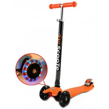 Самокат трехколесный сладной 21st Scooter G-40 оранжевый