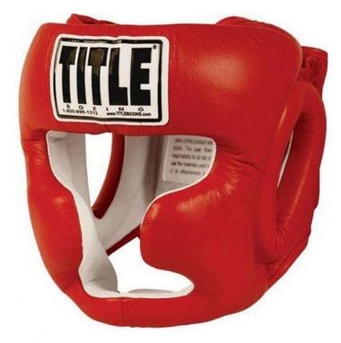 Шлем боксерский Title Pro Full Face Training Headgear красный