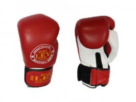 Перчатки боксерские Лев LV-4281-R Класс красные