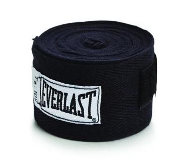 Бинты классические укороченные Everlast черные (2 шт)