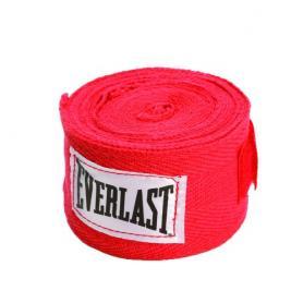 Бинты классические укороченные Everlast красные (2 шт)