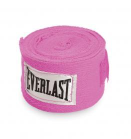 Бинты классические укороченные Everlast розовые (2 шт)