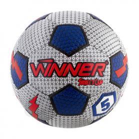 Мяч футбольный Winner Street Cup серый с синим
