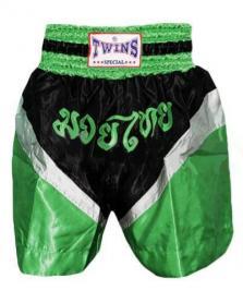 Трусы для тайского бокса TWINS ZB-6142-G зеленые